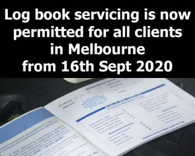 Logbook servicing now available